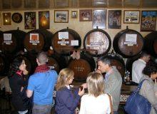 Wine tasting in old tavern