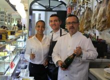 Staff working in a local restaurant in Malaga