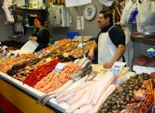 Fish display in the market